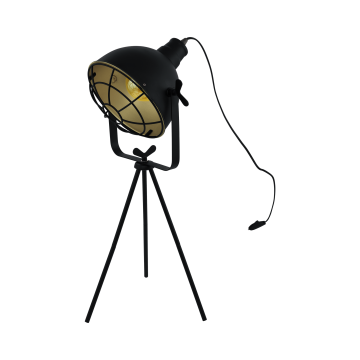 Настольная лампа Eglo Cannington 49673, 1xE27x60W, черный, металл
