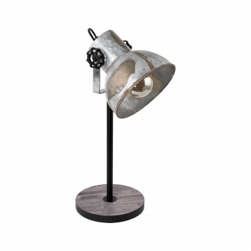 Настольная лампа Eglo Trend & Vintage Industrial Barnstaple 49718, 1xE27x40W, коричневый, сталь, дерево, металл