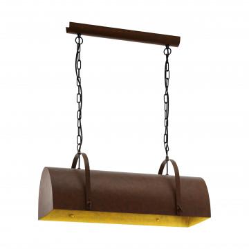 Подвесной светильник Eglo Trend & Vintage Vintage Deerhurst 49687, 2xE27x60W, коричневый, металл