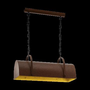 Подвесной светильник Eglo Deerhurst 49687, 2xE27x60W, коричневый, металл