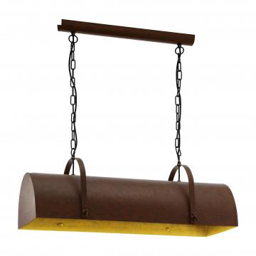 Подвесной светильник Eglo Trend & Vintage Vintage Deerhurst 49702, 3xE27x60W, коричневый, металл