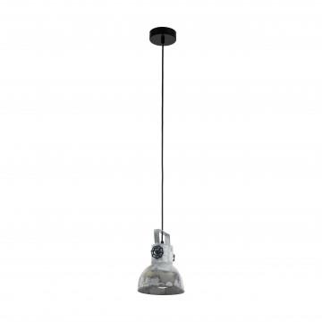 Подвесной светильник с регулировкой направления света Eglo Trend & Vintage Industrial Barnstaple 49619, 1xE27x40W, черный, сталь, дерево, металл