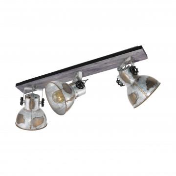 Потолочный светильник с регулировкой направления света Eglo Trend & Vintage Industrial Barnstaple 49652, 3xE27x40W, коричневый, сталь, дерево, металл