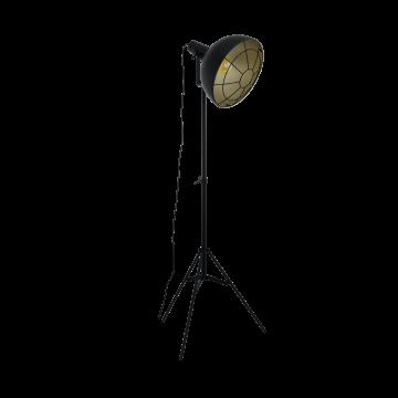 Торшер Eglo Cannington 49674, 1xE27x60W, черный, металл