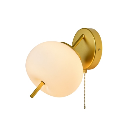 Бра Favourite Bacca 2643-1W, 1xG9x40W, матовое золото, белый, металл, стекло