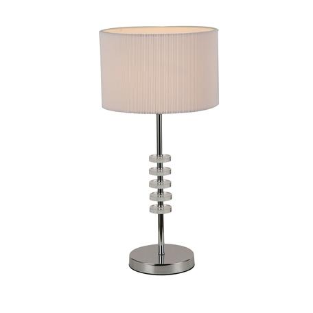 Настольная лампа Favourite Tesso 2680-1T, 1xE14x40W, хром, белый, металл со стеклом, текстиль