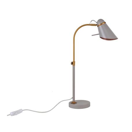 Настольная лампа Favourite Lovato 2666-1T, 1xE14x40W, матовое золото, серый, металл