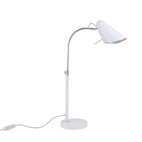 Настольная лампа Favourite Lovato 2667-1T, 1xE14x40W, белый, металл