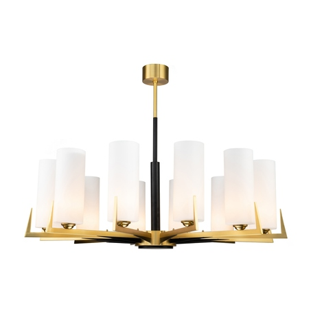 Потолочная люстра Favourite Maximo 2623-12P, 12xE27x40W, матовое золото, белый, металл, стекло