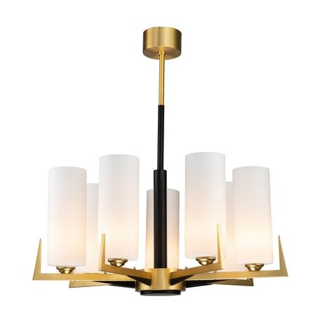 Потолочная люстра Favourite Maximo 2623-7P, 7xE27x40W, матовое золото, белый, металл, стекло