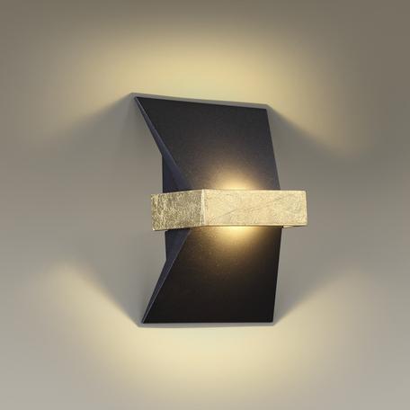 Настенный светодиодный светильник Odeon Light Hightech Bilbao 3835/7WL, LED 7W 3000K 490lm, черный, металл