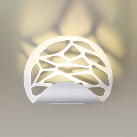 Настенный светодиодный светильник Odeon Light L-Vision Web 3836/10WL, LED 10W 3000K 800lm, белый, металл