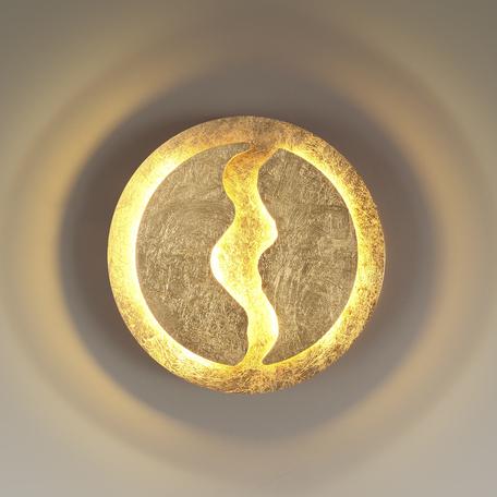Настенный светодиодный светильник Odeon Light Longwall 3866/10WG, LED 10W 3000K 1000lm, матовое золото, металл