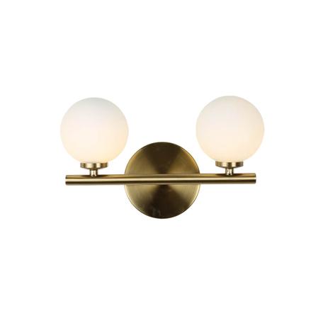 Настенный светильник Lumina Deco Marsiada LDW 6033-2 GD, 2xG4x5W, золото, белый, металл, стекло