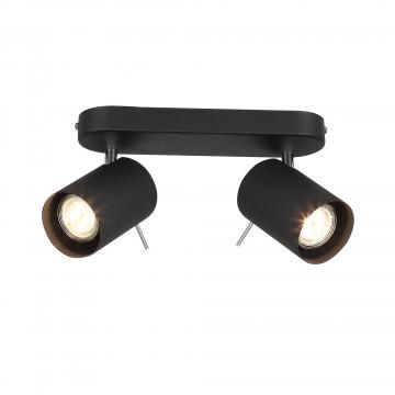 Потолочный светильник с регулировкой направления света ST Luce Fanale SL597.401.02, 2xGU10x3W, черный, металл
