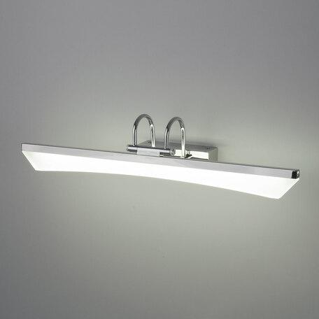 Настенный светодиодный светильник для подсветки зеркал Elektrostandard Selenga Neo a039166, LED 7W 4200K 420lm, хром, белый, металл, пластик
