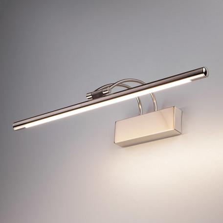 Настенный светодиодный светильник для подсветки картин Elektrostandard Simple a038392, LED 10W 4200K 560lm, никель, металл