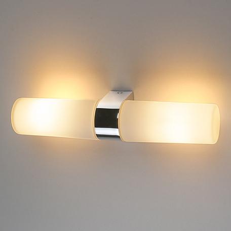 Настенный светильник Elektrostandard Round 2х42W хром (1242 AL14), IP44, 2xE14x42W, хром, белый, металл, стекло