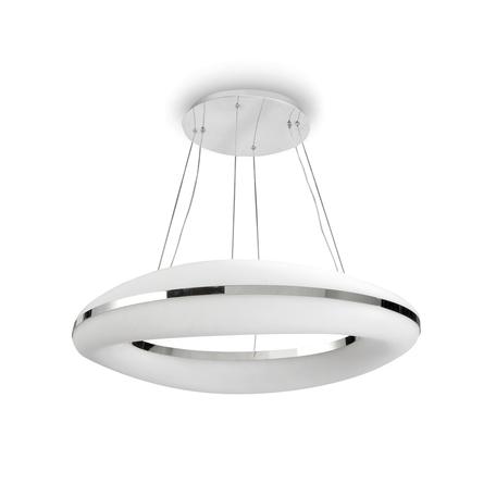 Подвесной светильник Mantra Oakley 4900, хром, белый с хромом, металл, пластик