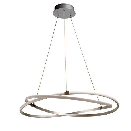 Подвесной светильник Mantra Infinity 5380, матовый хром, белый, металл, пластик