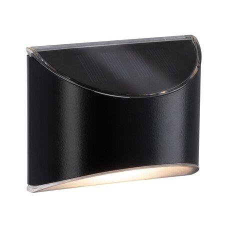 Настенный светодиодный светильник Paulmann Solar Way Elliot 94233, IP44, LED, черный