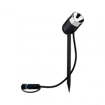 Светодиодный прожектор Paulmann Plug & Shine Spot Pike 94241, IP65, LED 3,5W, черный, металл, пластик
