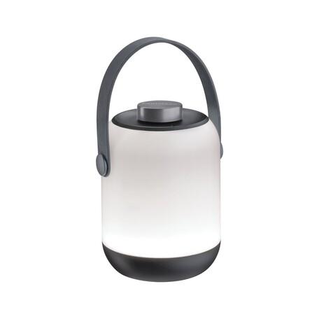 Садовый светодиодный светильник Paulmann Mobile Accu Tablelamp Clutch 94218, IP44, LED 1,6W, серый, пластик