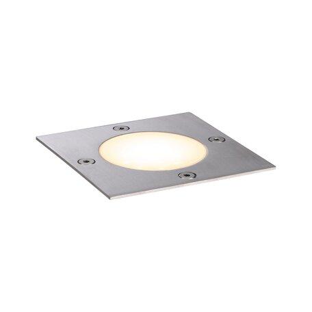 Встраиваемый в уличное покрытие светодиодный светильник Paulmann Outdoor Plug & Shine Floor 94227, IP65, LED 3,6W, сталь, металл