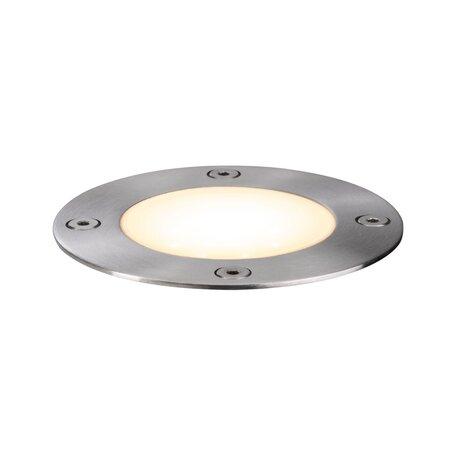 Встраиваемый в уличное покрытие светодиодный светильник Paulmann Outdoor Plug & Shine Floor 94228, IP65, LED 3,6W, сталь, металл