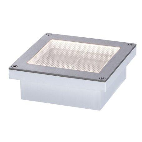 Встраиваемый в уличное покрытие светодиодный светильник Paulmann Solar Aron 94238, IP67, LED 0,7W, сталь, металл с пластиком