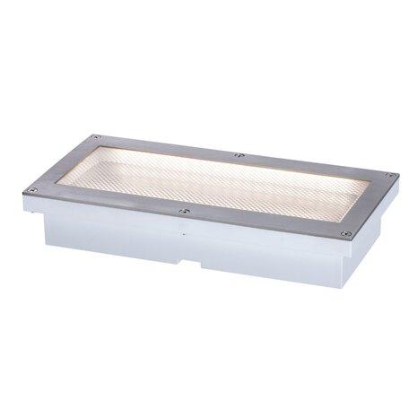Встраиваемый в уличное покрытие светодиодный светильник Paulmann Solar Aron 94239, IP67, LED 1,5W, сталь, металл с пластиком