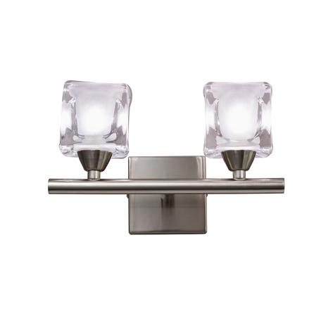 Бра Mantra Cuadrax 0004030, никель, матовый, прозрачный, металл, стекло
