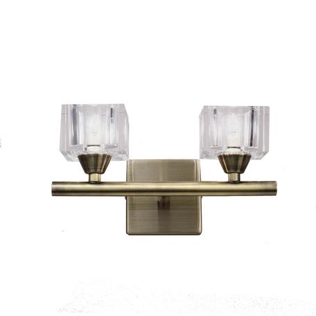 Бра Mantra Cuadrax 1103, бронза, металл, стекло
