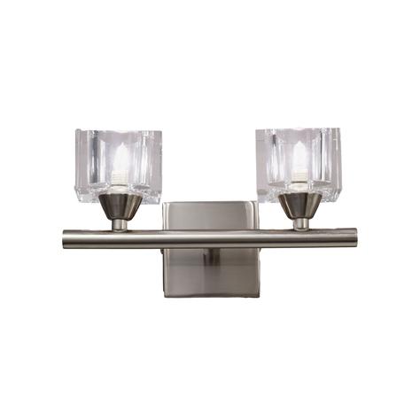 Бра Mantra Cuadrax 1113, никель, матовый, прозрачный, металл, стекло