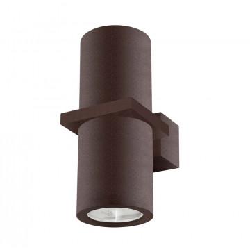 Настенный светильник Crystal Lux CLT 021W BR 1400/403, IP54, 2xGU10x35W, коричневый, металл