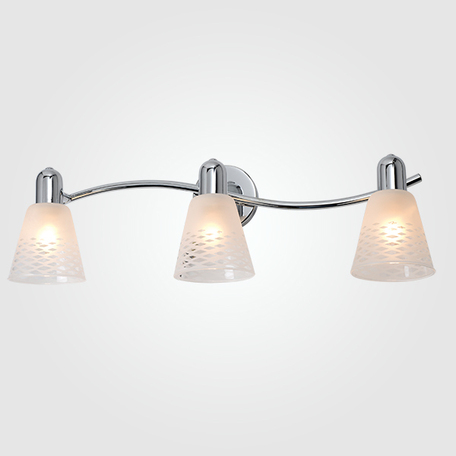 Настенный светильник с регулировкой направления света Eurosvet Organic 20053/3 хром, 3xE14x40W, хром, белый, металл, стекло