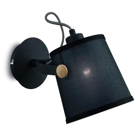 Настенный светильник с регулировкой направления света Mantra Nordica II 4925, коричневый, черный, дерево, металл, текстиль