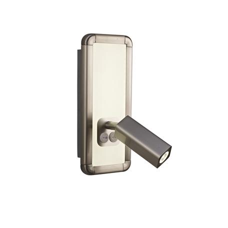 Настенный светильник с регулировкой направления света Mantra Ibiza 5256, никель, белый, металл, пластик
