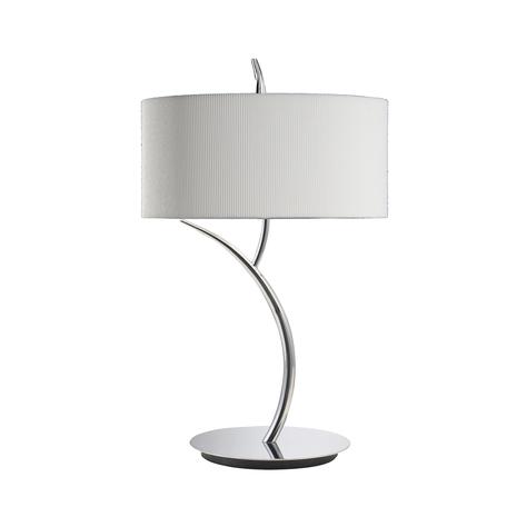 Настольная лампа Mantra Eve 1137, хром, бежевый, металл, стекло, текстиль