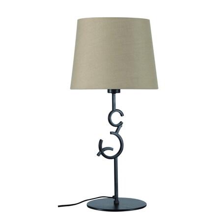 Настольная лампа Mantra Argi 5218, коричневый, бежевый, металл, текстиль - миниатюра 1
