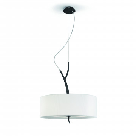Подвесной светильник Mantra Eve 1153, серый, бежевый, металл, стекло, текстиль