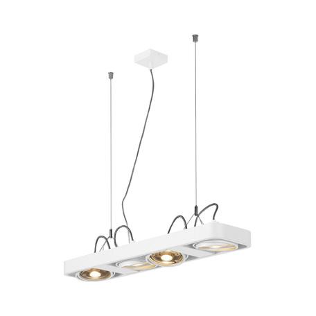 Подвесной светильник с регулировкой направления света SLV AIXLIGHT® R2 LONG QPAR111 159221, 4xGU10x75W, белый, металл