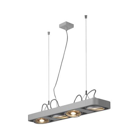 Подвесной светильник с регулировкой направления света SLV AIXLIGHT® R2 LONG QPAR111 159224, 4xGU10x75W, серый, металл