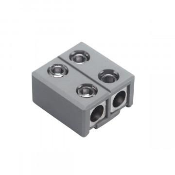 Прямой соединитель для рельсового шинопровода с подводом питания SLV GLU-TRAX® 186952, серый