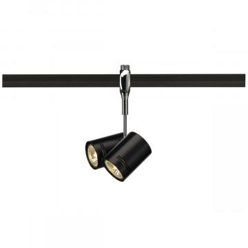 Светильник с регулировкой направления света для гибкой системы SLV EASYTEC II®, BIMA 185440, 2xGU10x50W, хром, черный, металл