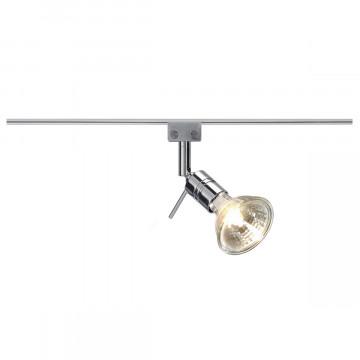 Светильник для рельсовой шинной системы SLV GLU-TRAX®, SOLO 90° 186272, 1xGU5.3x35W, хром, металл