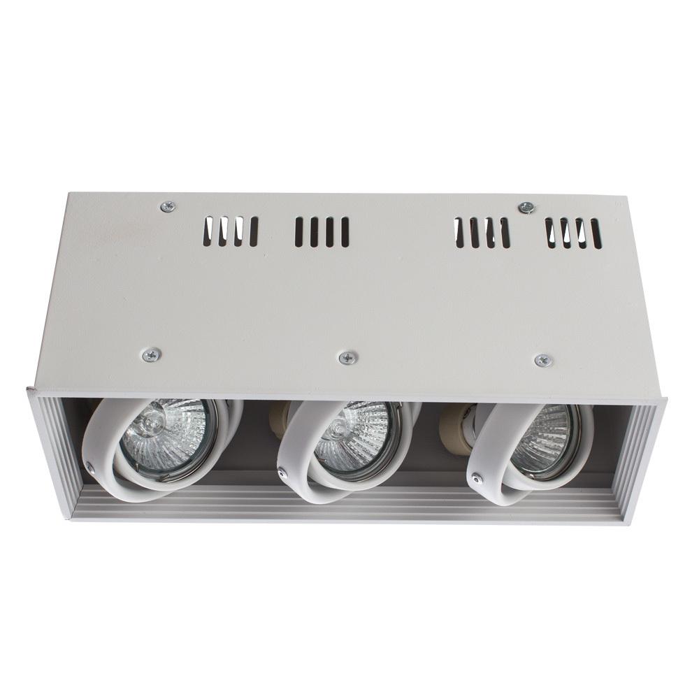 Потолочный светильник Arte Lamp Cardani Piccolo A5942PL-3WH, 3xGU10x50W, белый, металл - фото 1