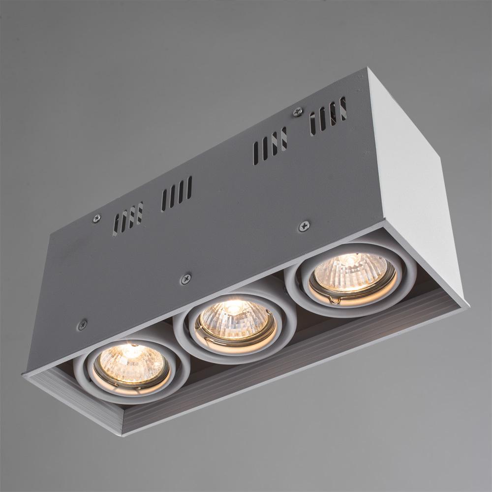 Потолочный светильник Arte Lamp Cardani Piccolo A5942PL-3WH, 3xGU10x50W, белый, металл - фото 2