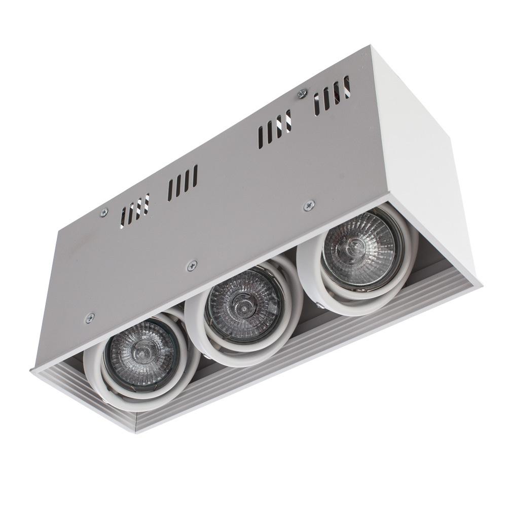 Потолочный светильник Arte Lamp Cardani Piccolo A5942PL-3WH, 3xGU10x50W, белый, металл - фото 3