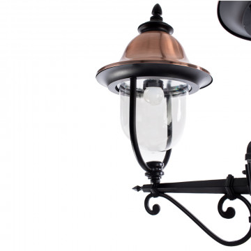 Уличный фонарь Arte Lamp Barcelona A1486PA-3BK, IP44, 3xE27x75W, черный, медь, прозрачный, металл, металл с пластиком - миниатюра 4